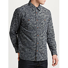 Buy JOHN LEWIS & Co. Floral Print Shirt, Navy Online at johnlewis.com