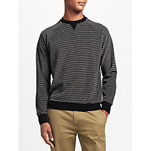 Buy Kin by John Lewis Velour Stripe Sweatshirt, Black/Grey Online at johnlewis.com