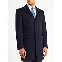 Buy Richard James Mayfair Wool Cashmere Epsom Overcoat, Navy Online at johnlewis.com