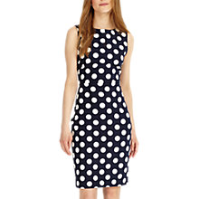 Buy Phase Eight Katlyn Spot Dress, Navy/Ivory Online at johnlewis.com