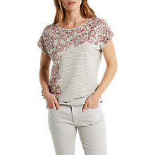 Buy White Stuff Stripe Swirl Cotton T-Shirt, Multi Online at johnlewis.com
