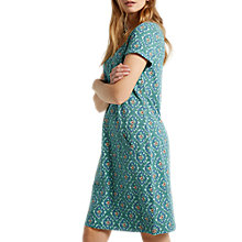 Buy White Stuff Perfect Tile Jersey Dress, Deep Turquoise Online at johnlewis.com
