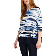 Buy Phase Eight Patricia Painted Stripe Top, Blue Online at johnlewis.com