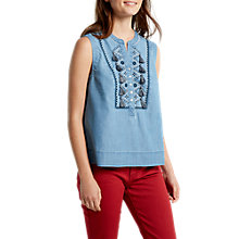 Buy White Stuff Taylor Tassel Denim Vest Top, Denim Online at johnlewis.com