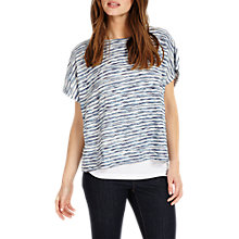 Buy Phase Eight Tandi Textured Double Layer Top, Blue Online at johnlewis.com