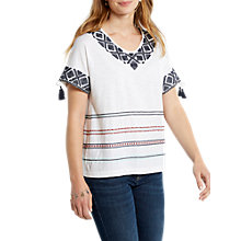 Buy White Stuff Stripe T-Shirt, White/Multi Online at johnlewis.com