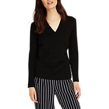 Buy Phase Eight Wilma Wrap Knit Top, Black Online at johnlewis.com
