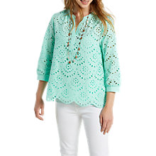 Buy White Stuff Olive Cotton Top, Green Online at johnlewis.com