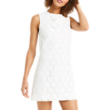 Buy Oasis Ruffle Lace Front Dress, White Online at johnlewis.com
