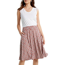 Buy White Stuff Rosewood Jersey Skirt, Red Online at johnlewis.com