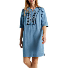 Buy White Stuff Taylor Tassel Denim Dress, Blue Online at johnlewis.com