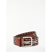 Buy AND/OR Kelly Aztec Embroidered Belt, Tan Online at johnlewis.com