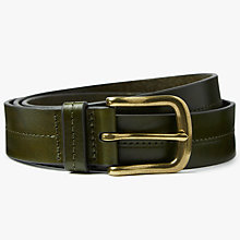 Buy John Lewis Juliette Leather Jeans Belt, Khaki Online at johnlewis.com