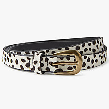 Buy John Lewis Perdy Dalmation Spot Belt, Black/White Online at johnlewis.com