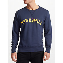 Buy Hawksmill Denim Co Garment Dyed Sweatshirt Online at johnlewis.com