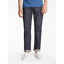 Buy Hawksmill Denim Co Japanese Selvedge Slim Tapered Jeans, Dry Indigo Online at johnlewis.com