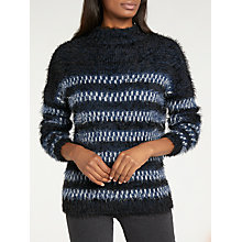 Buy Lee Long Sleeve Relaxed Striped Jumper, Midnight Blue Online at johnlewis.com