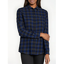 Buy Lee One Pocket Check Shirt, Midnight Blue Online at johnlewis.com