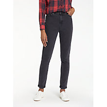Buy Lee Mom Tapered Jeans, Flat Black Stone Online at johnlewis.com