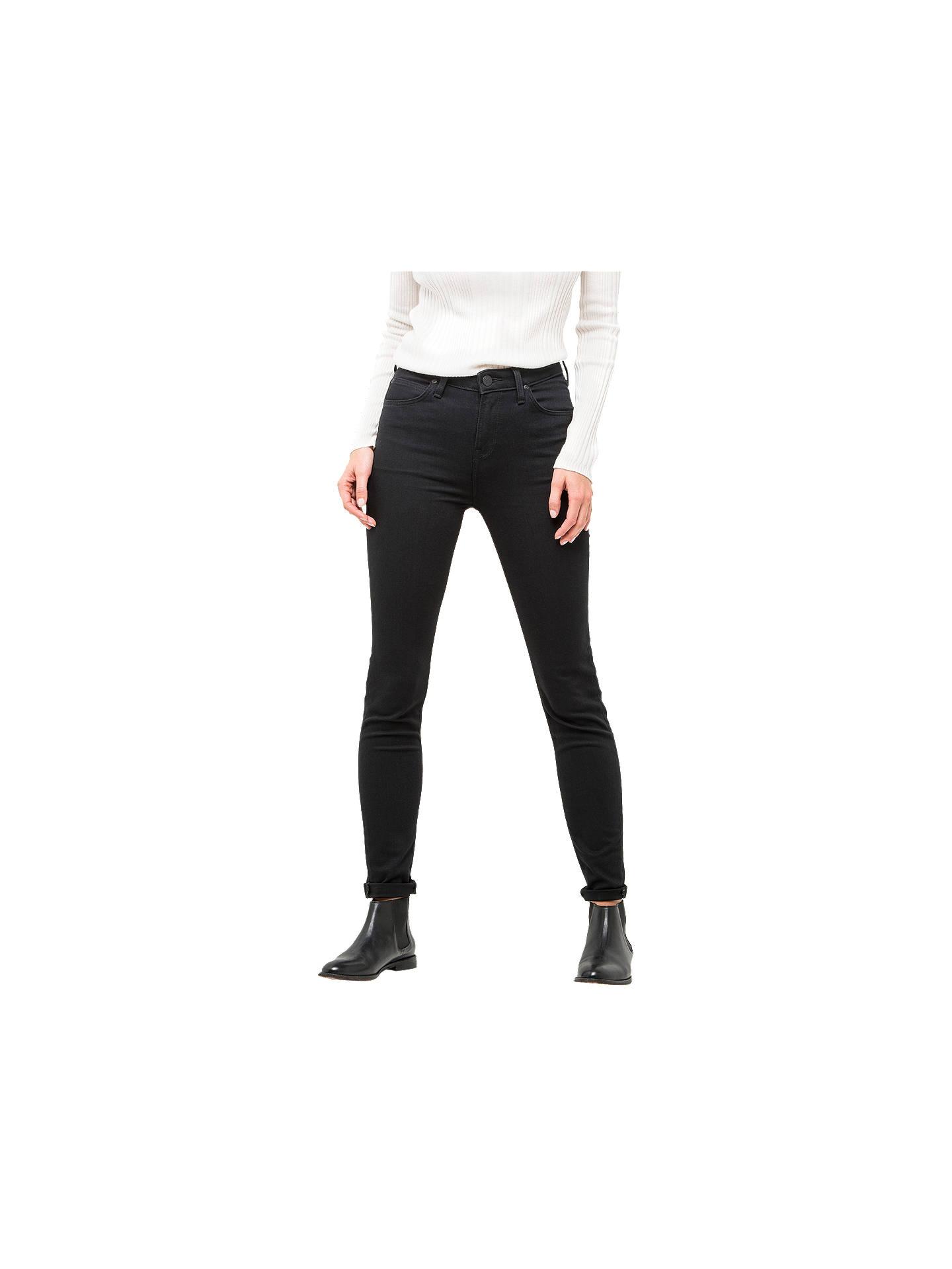 3ad8f711 Buy Lee Scarlett High Waist Skinny Jeans, Black Rinse, W27/L31 Online at ...