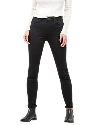 Lee Scarlett High Waist Skinny Jeans, Black Rinse