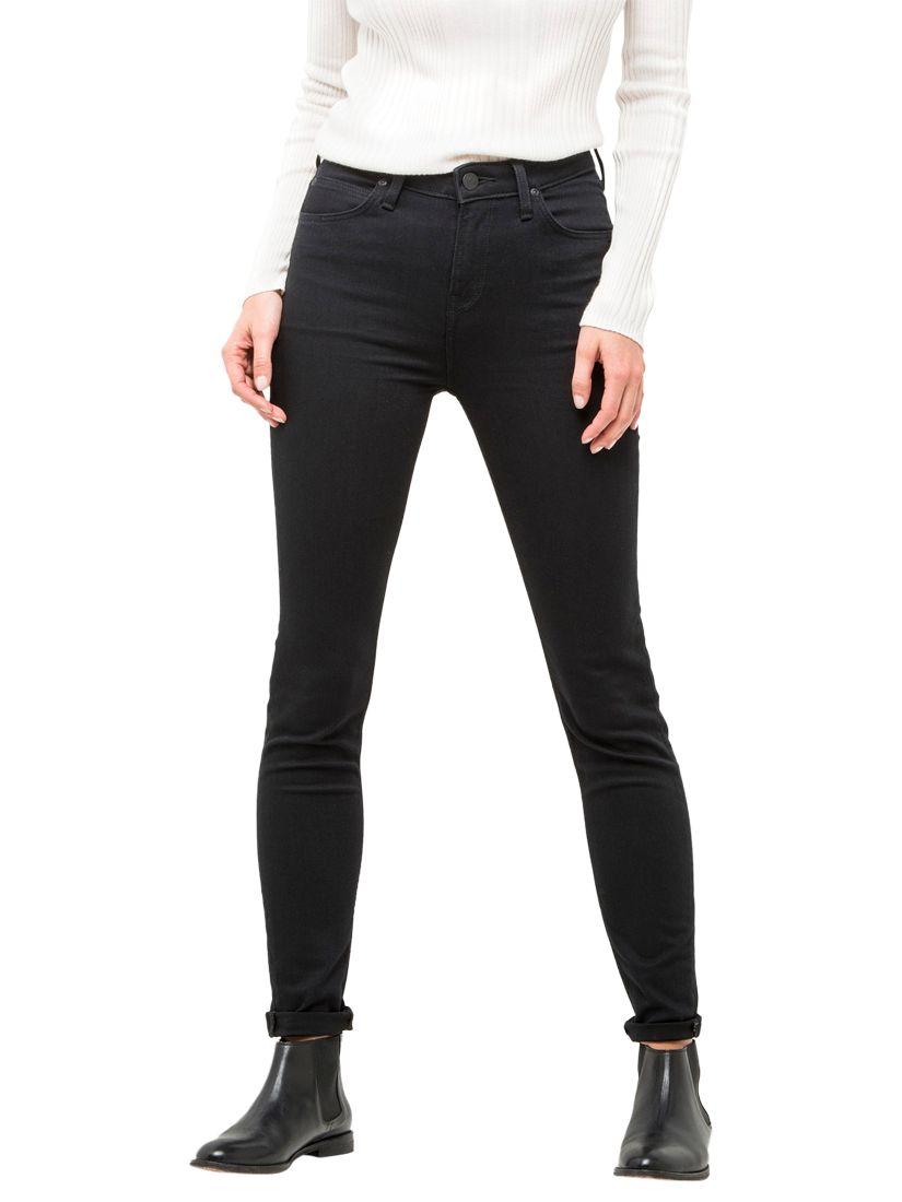 Lee Lee Scarlett High Waist Skinny Jeans, Black Rinse