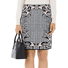 Buy Marc Cain Swallow & Check Skirt, Blush/Black Online at johnlewis.com