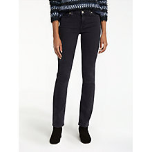 Buy Lee Marion Regular Straight Leg Jeans, Charcoal Powder Online at johnlewis.com