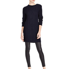 Buy Polo Ralph Lauren Aran-Knit Sweater Dress, Navy Online at johnlewis.com