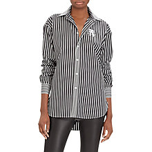 Buy Polo Ralph Lauren Monogram Boyfriend Shirt, Polo Black/White Online at johnlewis.com