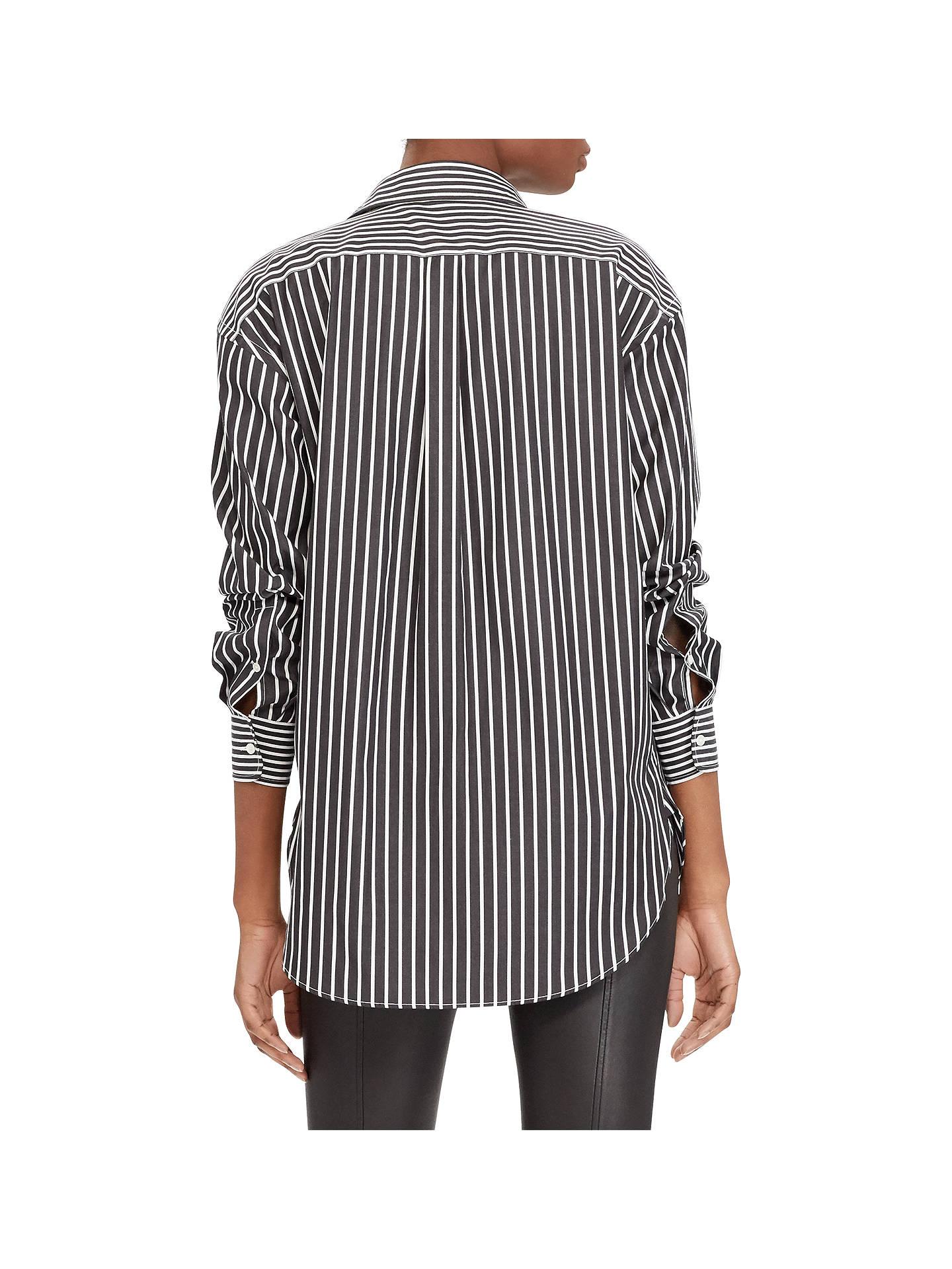 0f774798 ... Buy Polo Ralph Lauren Monogram Boyfriend Shirt, Polo Black/White, 8  Online at ...