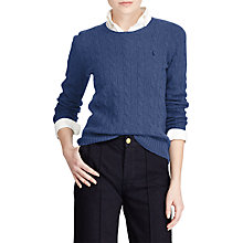 Buy Polo Ralph Lauren Julianna Cashmere Jumper, Shale Blue Heather Online at johnlewis.com