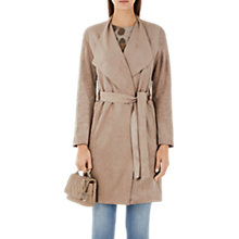 Buy Marc Cain Faux Suede Coat, Rose Taupe Online at johnlewis.com