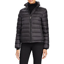 Buy Polo Ralph Lauren Lightweight Down Jacket, Polo Black Online at johnlewis.com