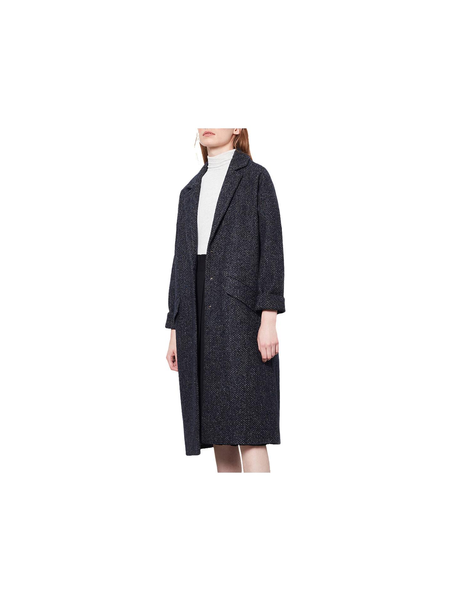 daf552dade6 Parka London Lola Duster Wool Coat, Navy at John Lewis & Partners
