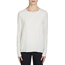 Buy Oui Double Layer Tie Back Top, Cloud Dancer Online at johnlewis.com