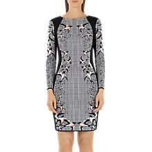 Buy Marc Cain Check & Swallow Jacquard Dress, Black/White Online at johnlewis.com