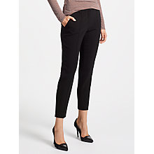 Buy Marc Cain Cropped Trousers, Black Online at johnlewis.com