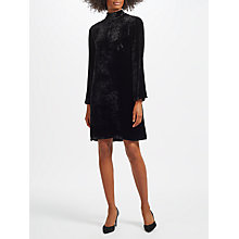 Buy Marc Cain Velvet Swing Dress, Black Online at johnlewis.com
