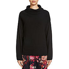 Buy Oui Roll Neck Jumper, Black Online at johnlewis.com