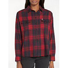 Buy Lee Two Pocket Check Shirt, Red Runner Online at johnlewis.com