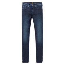 Buy Lee Marion Regular Straight Leg Jeans, Midnight Worn Online at johnlewis.com