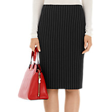 Buy Marc Cain Pinstripe Skirt, Black/White Online at johnlewis.com