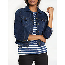 Buy Lee Slim Rider Denim Jacket, Mean Streaks Online at johnlewis.com