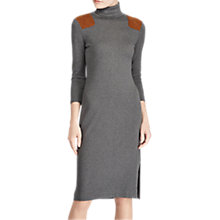Buy Polo Ralph Lauren Turtleneck Dress, Antique Heather Online at johnlewis.com