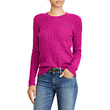 Buy Polo Ralph Lauren Julianna Wool Cashmere Jumper, Vibrant Pink Heather Online at johnlewis.com