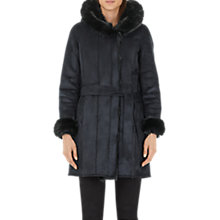 Buy Marc Cain Faux Sheepskin Hooded Coat Online at johnlewis.com