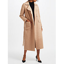 Buy Marc Cain Teddy Faux Fur Coat, Camel Online at johnlewis.com