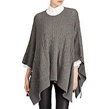 Buy Polo Ralph Lauren Wool Cashmere Poncho, Antique Heather Online at johnlewis.com