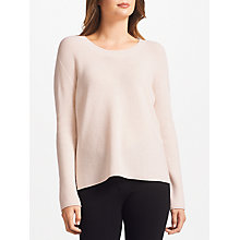Buy Marc Cain Wool Rib Knitted Jumper, Blush Online at johnlewis.com